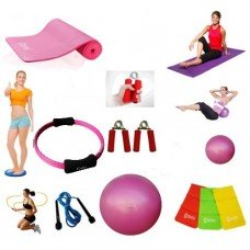 Cosfer Endpoint Deluxe Pilates Seti 4mm Yoga Matı Pembe